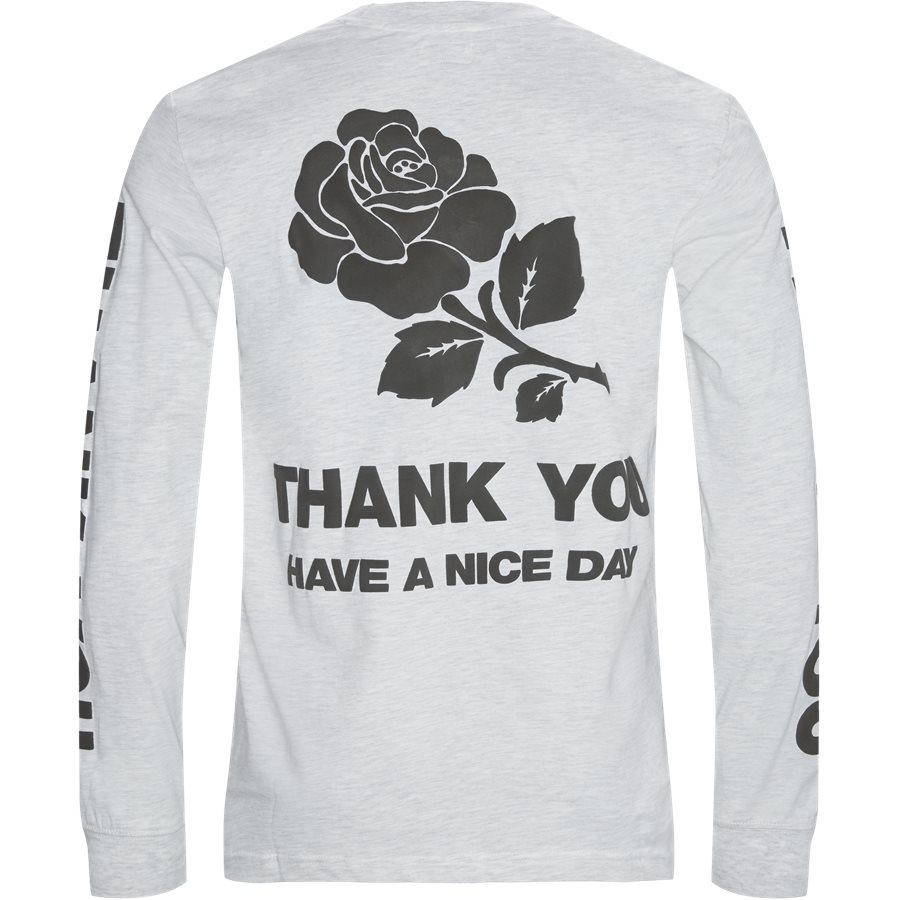 THANK YOU LONG TEE - Thank You Long Tee - T-shirts - Regular - GRÅ MEL - 2